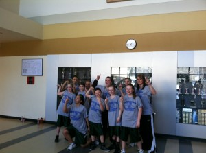 """According to seventh grade basketball coach Jessica Fortunato, the Rangely Middle School girls' basketball team's philosophy this year was to go """"all out,"""" which is what the team did this season. The team went """"all out"""" and won the annual league tournament to finish the second undefeated in nine games played."""