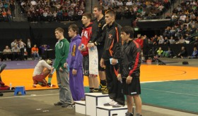 Twelve wrestlers from Rio Blanco County competed in the 2013 Colorado State Wrestling Championships in the Pepsi Center in Denver and they returned with one state champion and three state placers. Rio Blanco County was best represented in the 160-pound bracket where Rangely senior Colton Coombs earned a sixth place finish and Meeker freshman T.J. Shelton won the gold medal.