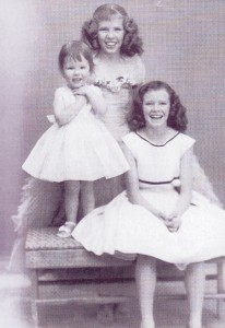 Dressed in their Sunday finest are Mary Ann, Sally and Pauline Wilbur. All three girls have fond and vivid memories of family life growing up and the hard work that was involved in getting by without a lot of money to spend.