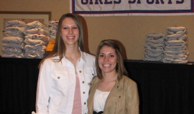 Rangely's Quincey Thacker and Meeker's Kaysyn Chintala represented their schools and Rio Blanco County in the Colorado Coaches of Girls' Sports all-state basketball game last weekend.