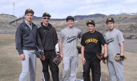 Meeker seniors Nate Walsh, Ben Fitzgibbons, Alex Smith, Adrian Shroyer and Scott Smith will lead the Cowboy baseball team in a doubleheader Saturday in Paonia.