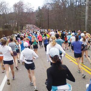 Sarah Ward of Rangely finished the Boston Marathon before the bombs exploded.