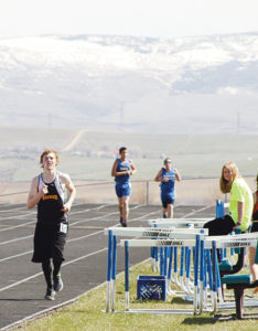 """According to Meeker head track coach John Strate, Aaron Cochran had a """"decisive victory"""" in the 800-meter."""