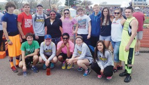 Meeker was represented at the state track meet held in Jefferson County Stadium in Denver by Caleb Lange, Sydney Hughes, Tala Atoafa, Aly Ridings and Linda Olivas in the front row, and in the back row Tommy Chitwood, T.J. Shelton, Jake Phelan, Taylor Ahrens, Aaron Cochran, Anthony Watt, Jordan Brown, Bailey Atwood and Jeff Wagner.