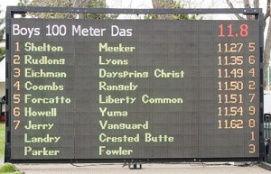 Rio Blanco County was well represented in the 100-meter dash.