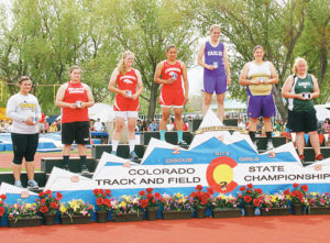 Rio Blanco County seniors Bailey Atwood of Meeker and Holly Lepro of Rangely earned eighth- and fifth-place medals, respectively, in the discus event.