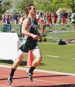 Colton Coombs qualified for the state meet in both the 100- and 200-meter dashes.