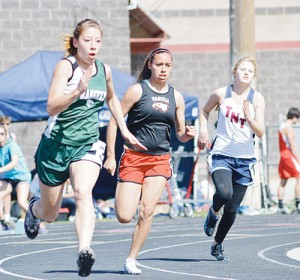 Rangely High School senior Leslie Hernandez had personal bests in the 100- and 200-meter dashes.