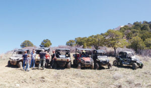Members of the Wagon Wheel OHV Club gather on a hillside for a break during one of their rides. A grant for $265,300 has been awarded to Rio Blanco County by the Colorado State Parks Off Highway Vehicle (OHV) Program for use within the county. All area OHV trails are now open.