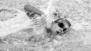 Hurricane Travis Coates swam in nine events, including the 500 freestyle in the 10-and-under age group in Aspen.