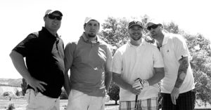 Trey Robie, Brian Skelton, Andy Key and Mark Skelton were one of 10 teams to enter and enjoy the annual Elks Scramble golf tournament held Saturday at Cedar Ridges Golf Course.