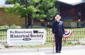 The Rio Blanco Historical Society had an educational and entertaining quarterly meeting at St. James Episcopal Church in Meeker  on June 30. The meeting was held in the hall named for Father Will Richards, in honor of guest speaker Andrew Cooley, who was in character as Father Richards. Cooley has done extensive research on Father Richards, and he feels he owes his career path to the man. Cooley has been serving as an Episcopal priest for several years. The meeting also addressed the history of United Methodist and Holy Family Catholic churches in Meeker.