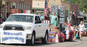 "With the theme ""Gone but not Forgotten,"" Pioneers Medical Center won ""Best of Show"" for its float in the annual Range Call parade in 2012."