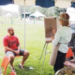Bev Lee of Grand Junction draws Meeker's Mike Weinbrecht.