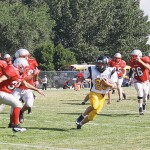 Sophomore running back T.J. Shelton rushed for two touchdown, caught another and ran for three two-point conversions.