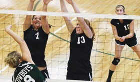 RHS volleyball team defeats Hotchkiss in five