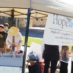 The Hope West booth at Saturday's Fall Festival in Meeker kept kids and adults busy with the bean bag toss. New Hope is one of the non-profit groups in the area that took part in the Fall Festival as a means to raise funds for Meeker-area non-profit organizations.