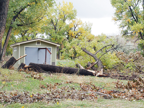 Rangely town and park district employees are continuing to clean up around Rangely Camper Park as time and resources permit, Town Manager Peter Brixius said this week.