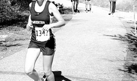 Freshman Julia Eskelson was the only female runner to represent her school in the girls' race and she broke the 21-minute mark at the Anna Banana Invitational meet in Fruita, finishing the race in 29th place.