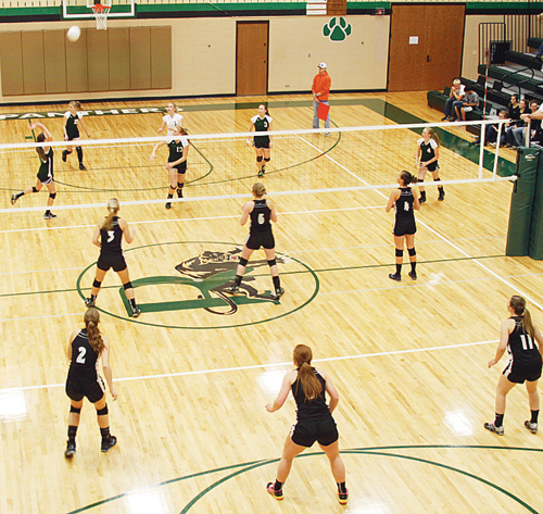 The Rangely volleyball team played its Rio Blanco County rival, the Meeker Cowboys in its final home game of the season and as always, it was a competitive match with Rangely winning the first game and Meeker winning the next three. The two teams played again Tuesday in Meeker, where the Lady Cowboys eliminated Rangely, winning the match in three games and advancing to the district tournament in Paonia on Saturday.