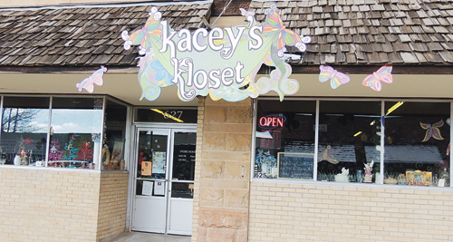 Kacey's Closet on Main Street in Meeker is one of the many local businesses offering discounts, specials and extended hours on Saturday as part of Small Business Saturday, promoted by the Meeker Chamber of Commerce.