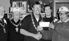 phrgchevron donation to elks lodge