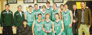 The Rangely Panther boys basketball team started slow but finished as champions in the 2013 WREA Cowboy Shootout. The championship team consisted in back Daniel Connor (manager), Chris Hejl (asst. coach), Troy Allred, Layne Mecham, Kelton Elam, Cameron Enterline, Fredy Ruiz, Connor Phelan, Eric Hejl (head coach) and Cody Brunton (asst. coach). In front, Kobe Broome (manager), Andrew Morton, Mitchell Webber and Kaulan Brady.