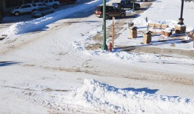 Snow continues to pile up around the county as seen here Monday at the intersection of Sixth and Main streets in Meeker. Some areas received another nine inches of snow recently. Already the county is off to a quick start on the new precipitation year with more than 25 inches in some parts of the surrounding mountains.