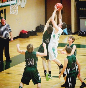 Rangely junior Colt Allred recorded a double-double against the Plateau Valley Cowboys when he scored 16 points and pulled down 11 rebounds, leading the Panthers to 58-38 victory.