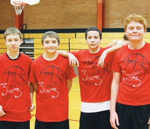 Team Walsh, consisting of Barone Middle School classmates Trapper Merrifield, Stephan Walsh, Valentine Rosas and Logan Hughes.