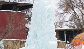 This 40-foot ice tower on the Colorado Northwestern Community College campus in Rangely is a teaching aid now and could be the springboard for a bigger project and more emphasis on outdoor programs on the college's main campus.