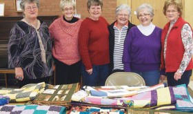 Rio Blanco Stitchers give quilts to HopeWest-Meeker