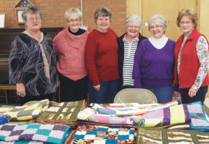 The Rio Blanco Stitchers have nine quilts completed and more on the way for patients with the newly opened HopeWest-Meeker, a palliative care program. Quilts have already been sewn by Linda Jones, Barbara Phelan, Penny Brown, Donna Collins, Pat Daggett, Peggy Shults, Jan Keller and Lori Farris, and Toby Smith donated 2,200 squares of material her mother cut and pressed for use in the quilts.