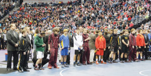 Meeker had three wrestlers participate in the Parade of Champions, where finalists in all weight classifications walk from the four corners of the Pepsi Center onto their respective mats before being introduced to thousands of wrestling fans. Meeker's Tristin Pelloni, Devon Pontine and T.J. Shelton were accompanied by their coaches, Willy Theos, J.C. Watt and Barney LeBlanc.