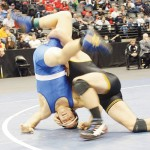 T.J. Shelton turned the competition on its head in the 2A 170-pound bracket, where he won his second state title.