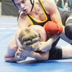 Willis Begaye pushed through the pain of an injured knee to wrestle in his first state tournament.