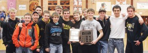 "The Meeker wrestling team was awarded the ""sportsmanship"" plaque by northwest Colorado referees before the championship matches of the Region 1 state-qualifying tournament and several wrestlers posed with the award and second place plaque including: Casey Turner, Tristin Pelloni, Kylloe Goedert, Tyler Ilgen, Calvin Shepherd, Sheridan Harvey, Jake Henderson, TJ Shelton, Aaron Cochran, Anthony Watt, JC Henderson, Nick Burri, Willis Begaye and Chase Rule. The Cowboys qualified 10 wrestlers for the ""Big Show,"" which starts today at 3 p.m. and can be followed online at trackwrestling.com."