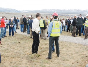 More than 120 persons were present at the Friday groundbreaking for the new Pioneers Medical Center, located off Highway 13, about 2 miles north and east of Meeker. No service will be lost with the new facility but state-of-the-art technology will be joined with added services when the facility opens in 2015.