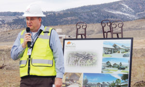 Pioneers Medical Center CEO Ken Harman played host for the groundbreaking Friday of the new Pioneers Medical Center hospital. The $47 million project is expected to take about 15 months to open, roughly July 1, 2015.