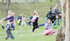 Rangely Elks Club's annual Easter egg hunt…