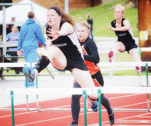 Meeker senior Aly Ridings led her team to a first place finish with first place finishes of her own in the 100-meter hurdles, long jump and triple jump in Rangely last Saturday. Meeker will compete in Craig on Friday.