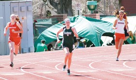 Rangely senior Aimee Hogan ran the 100-meter in 14.34, the 200-meter in 29.52 and the 400-meter in 1:04.33, all personal best times, at the Frank Woodburn Invitational Track Meet at Stocker Stadium in Grand Junction.