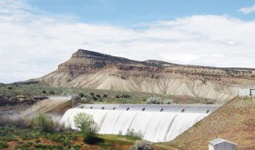 Taylor Draw Dam, located about six miles east of Rangely, controls the water in Kenney Reservoir while also producing hydroelectric power. The two-mile reservoir is heavily silted and the eastern mile of the lake has almost been lost to water storage and recreation, bringing about the need for and the likelihood of a new reservoir along the river in Rio Blanco County 10 to 12 years down the road.