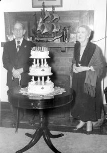 "Mary Delaney Oldland and Ambrose Oldland pose for a celebratory event. The Oldlands have left their impression in the Meeker area, including being Bob Amick and and Sandy Bradfield's great aunt and uncle. Mary Delaney Oldland wrote about the family's history in early 1952 in a story published in Colorado Magazine titled ""Sixty-seven years in the White River Valley."""