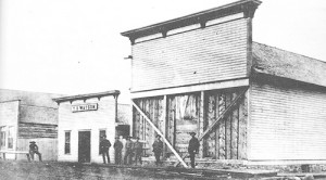 Above is the old Watson Store, later the A. Oldland and Co. building in 1887 and later the building was occupied by the Independence Lumber Co. at th and Main streets in Meeker.
