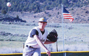 (Below) Meeker senior Kenny Kohls was the Cowboys' starting pitcher against the Bears and he threw five innings with no walks and only gave up two hits. Kohls will be joining the United States Marine Corps after graduation.