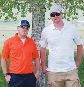 Rangely's Robby Elam and Meeker's Bryce Ducey teamed up and scrambled to win the A-flight of the annual two-man scramble recently held at the Meeker Golf Course.