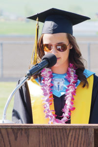 Piper Haney, who sported the No. 2 highest grade point average of the 2014 senior class, offered advice to classmates in her salutatorian address.