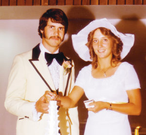Vicky and Mike Tate on their wedding day.