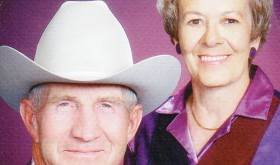2014 Range Call parade grand marshals Don and Rosemary Hilkey.
